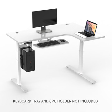 Eureka Ergonomic L Shaped Standing Desk White L Shaped
