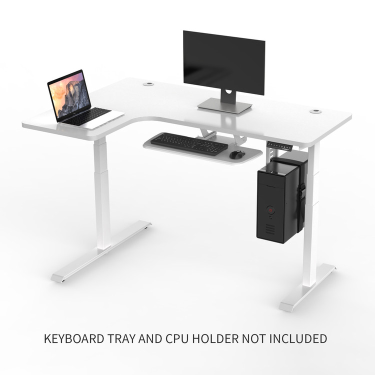Eureka Standing Desk E60 - L Shape Desk (Left) Electric Height-Adjustable - 30-Day Risk Free Guarantee Plus FREE Shipping ERK-EDKLL-W