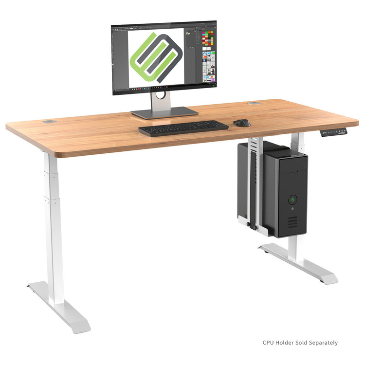 Eureka Standing Desk E60 - Electric Height-Adjustable Desk - Wood - 30 Day Risk Free Guarantee Plus FREE Shipping