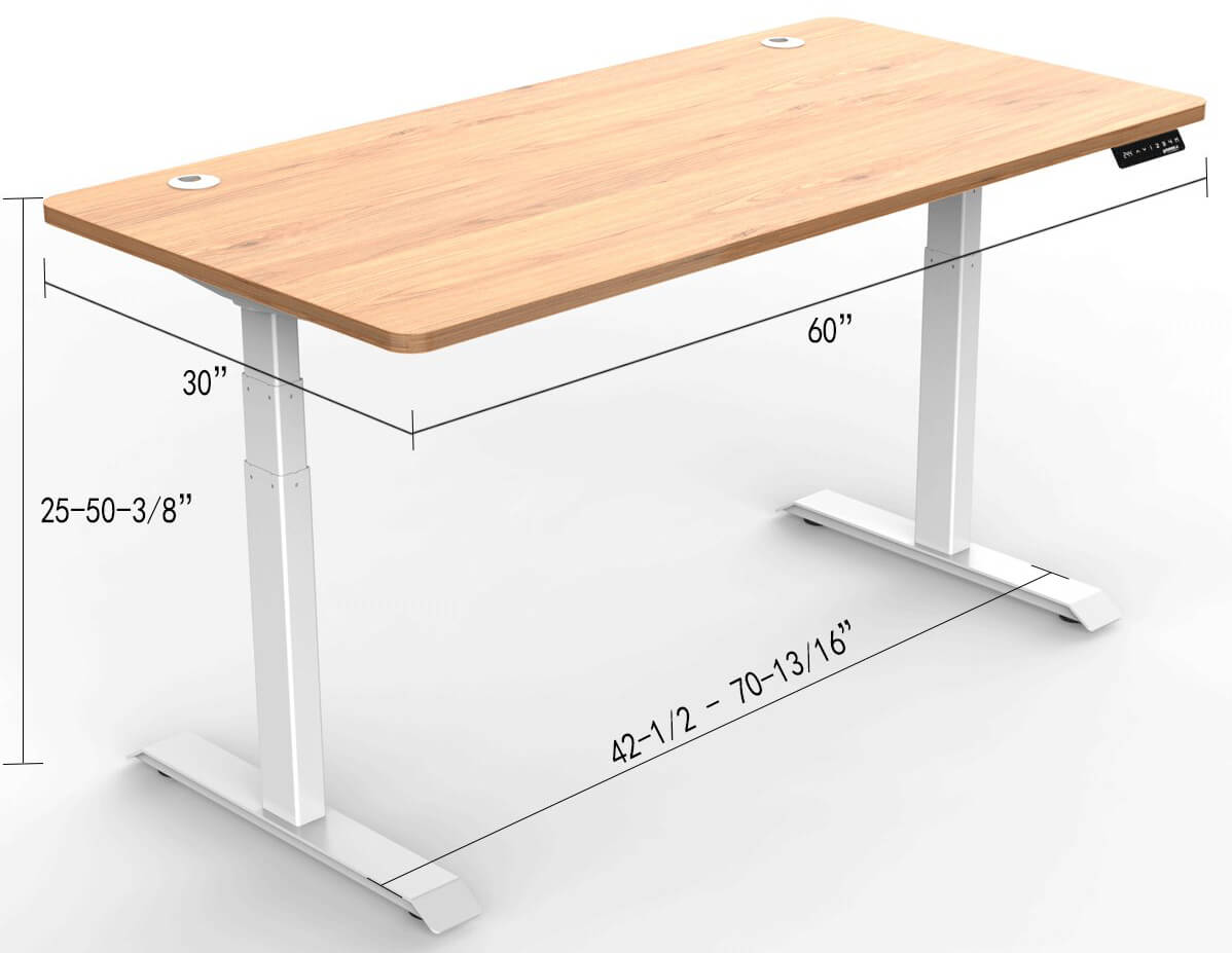 Eureka Standing Desk E60 - Wood - 30 Day Risk Free Guarantee Plus FREE Shipping