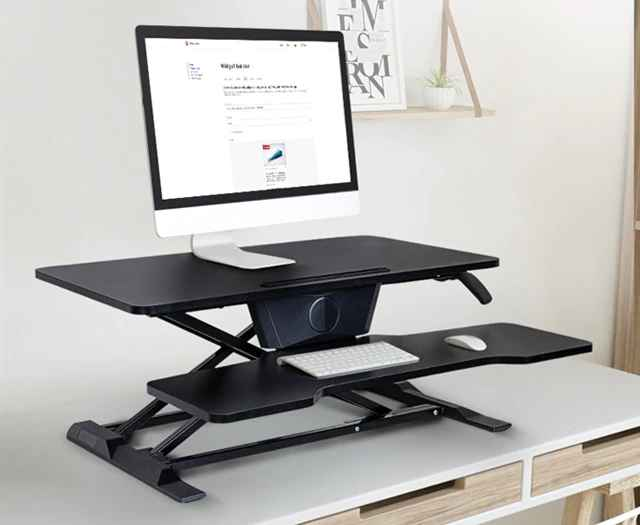 Eureka Ergonomic® Sit Stand Desk - New Generation - Black - 30 Day Risk Free Guarantee Plus FREE Shipping