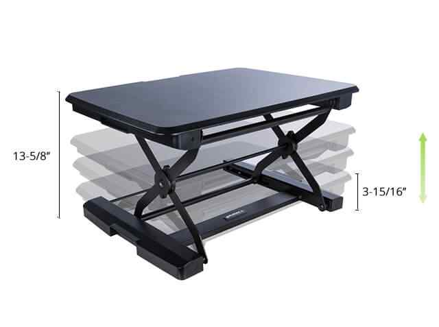 Eureka Ergonomic® Sit-Stand Desk Compact 26 - Black - Perfect for Laptops  - 30 Day Risk Free Guarantee Plus FREE Shipping