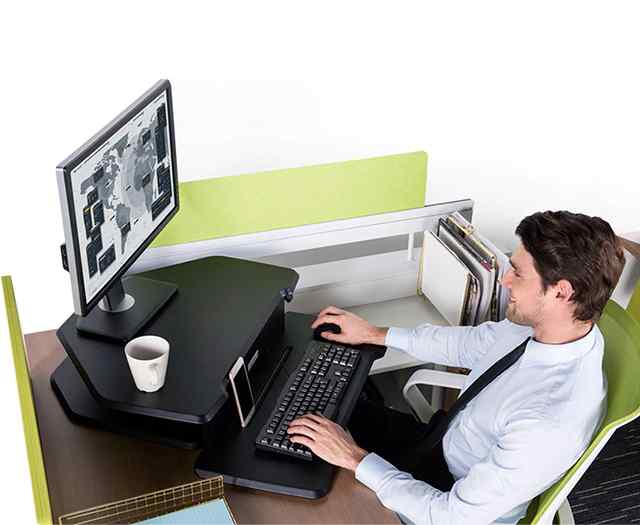 Sit-Stand Desk 28 Black - Corner Desk