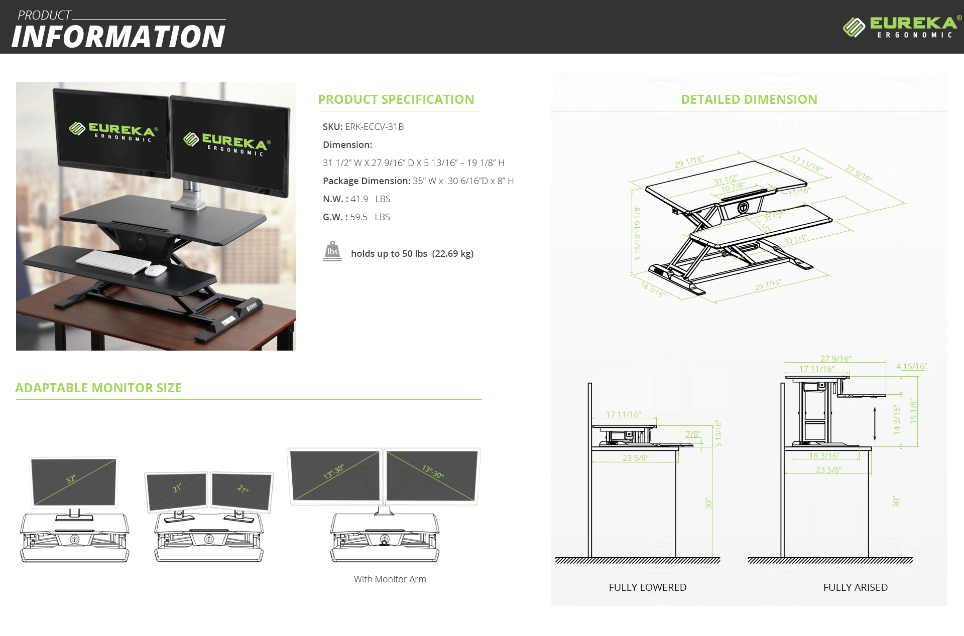 Eureka Ergonomic Electric Sit Stand Desk