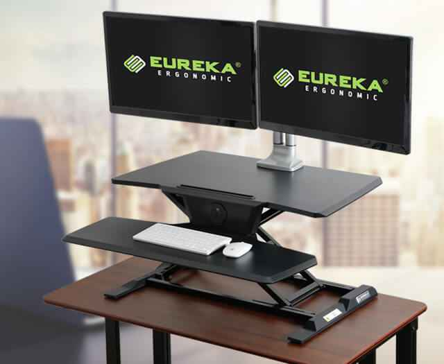 Eureka Ergonomic® Sit Stand Desk - Electric - Black - 30 Day Risk Free Guarantee Plus FREE Shipping