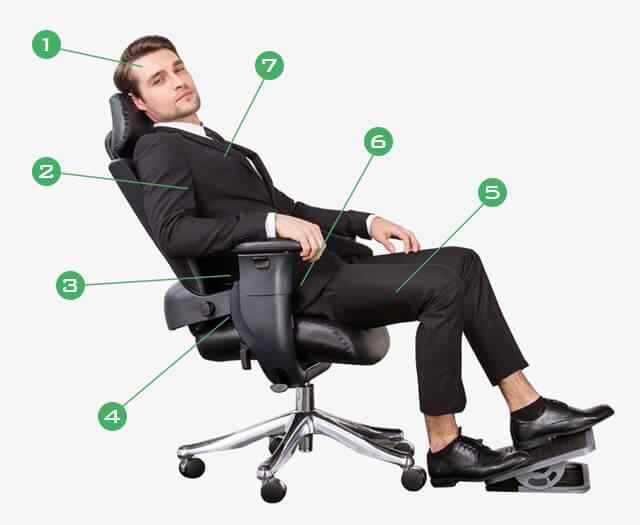 Eureka Ergonomic® Ergonomic Chair - Executive Swing Chair - Computer Desk Office Chair - Ergonomic Gaming Chair