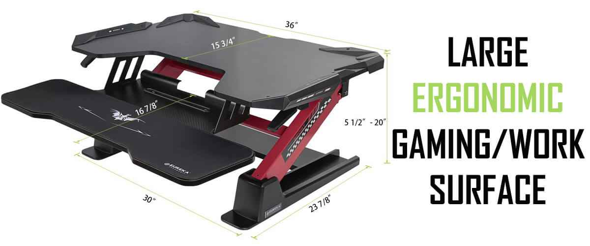 Eureka Ergonomic Gaming Sit-Stand Desk - Free Shipping