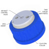 """2-Port Cap, GL45 for 3/16"""" tubing, Air inlet valve for Solvent Delivery"""