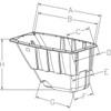 Easy to move and dump with polyurethane wheels Model 1/2 FL850B Tilt Cart