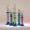 100mL Glass Graduated Cylinder, Plastic base and bumper, case/10