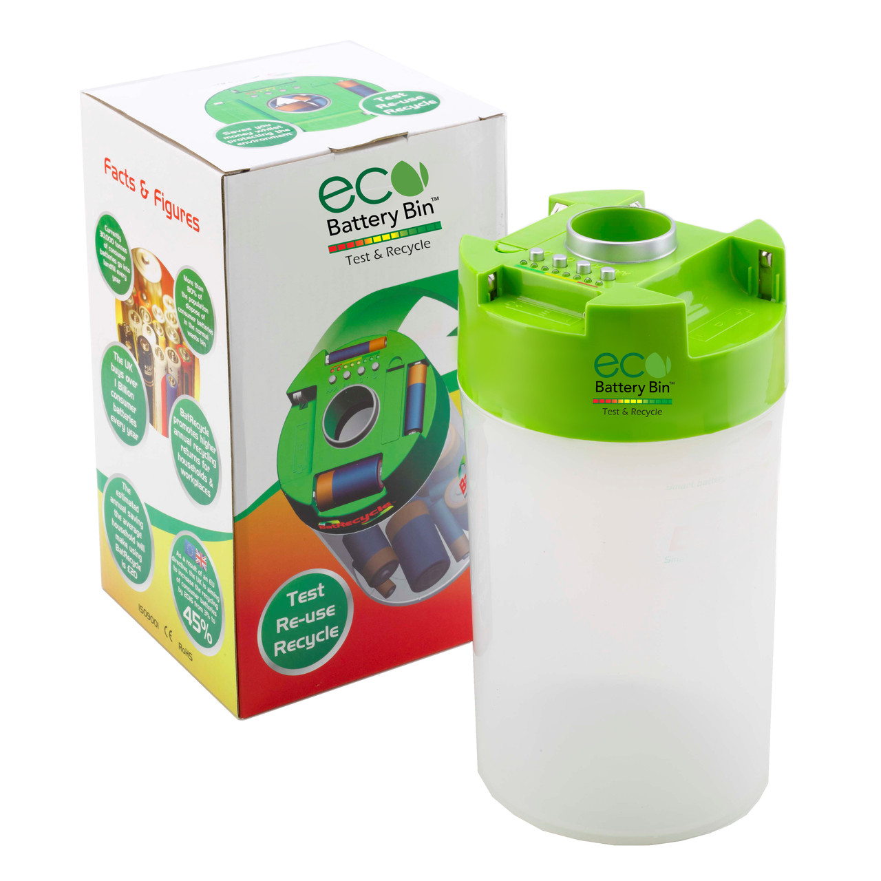 ECO Battery Bin front view