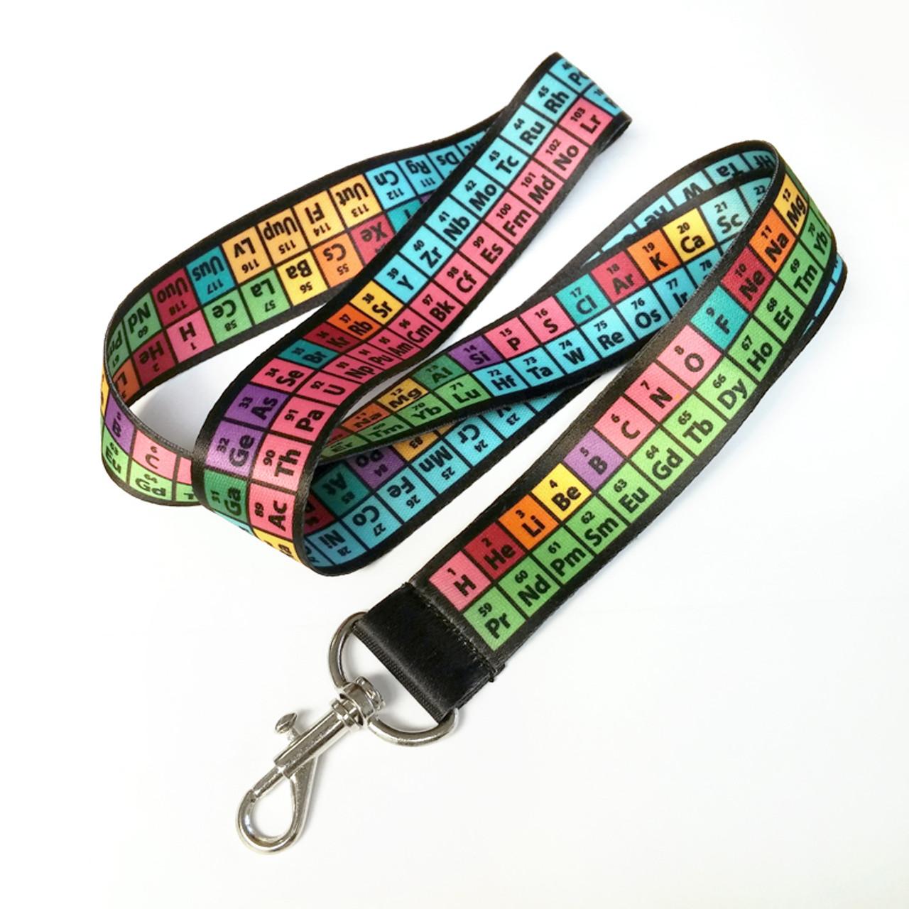Rainbow periodic table of elements lanyard badge holder keychain urtaz Images