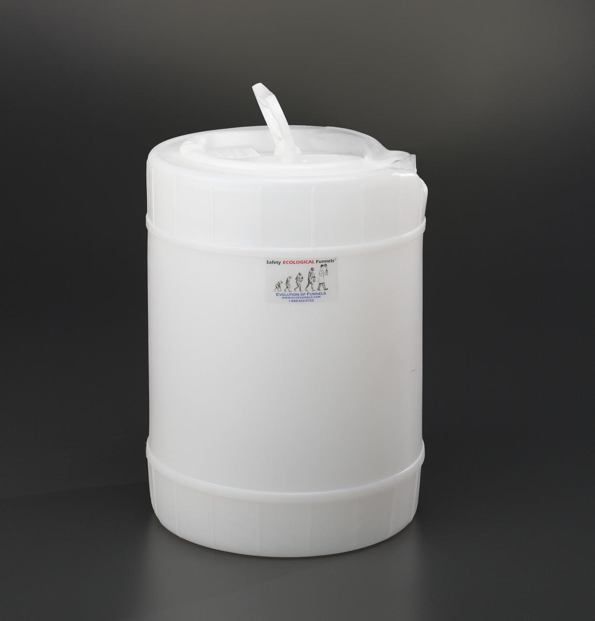 5 gallon drum, Plastic with cap size 70mm