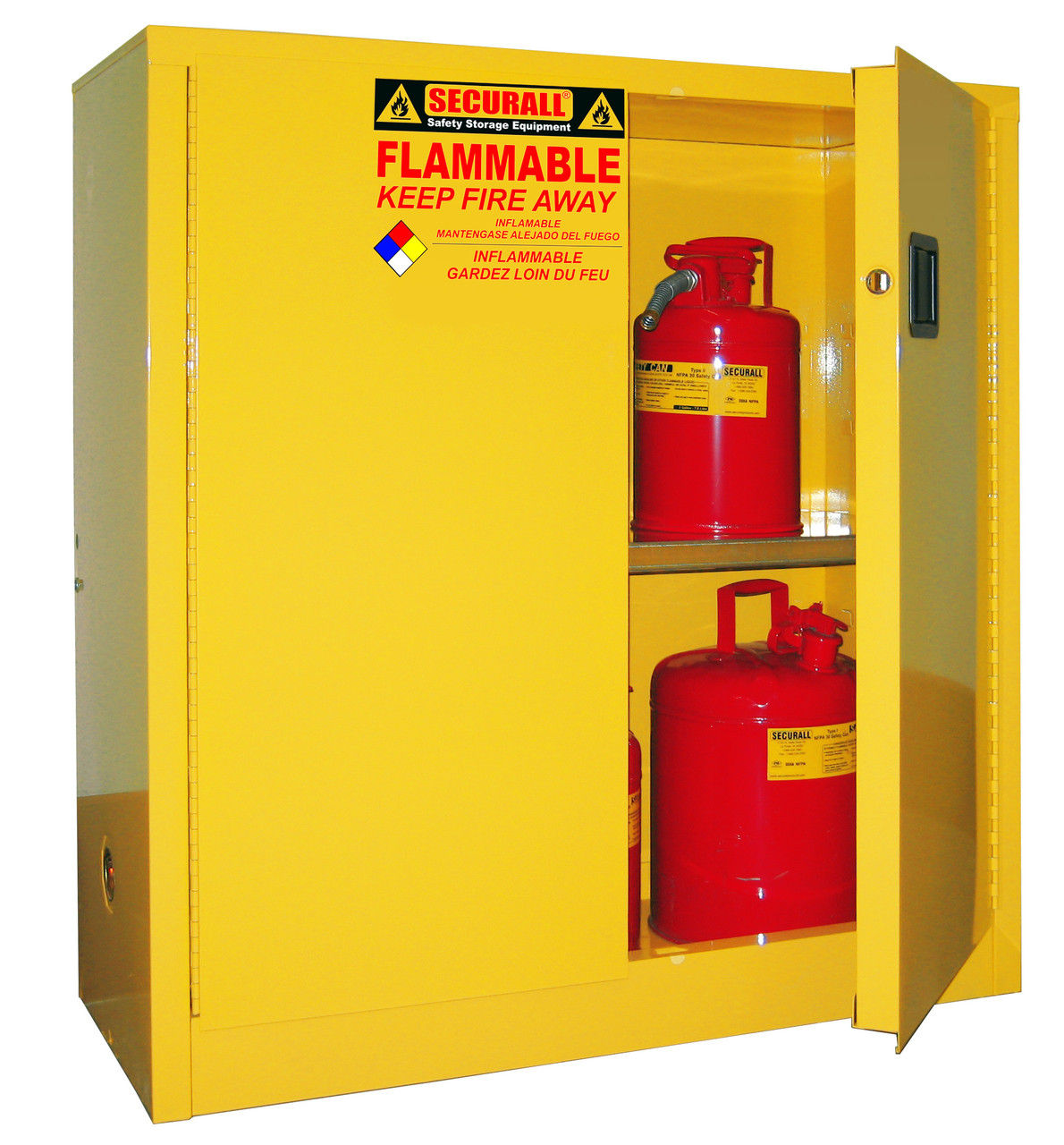 Securall A130 Flammable Storage Cabinet 30 Gal Self Close