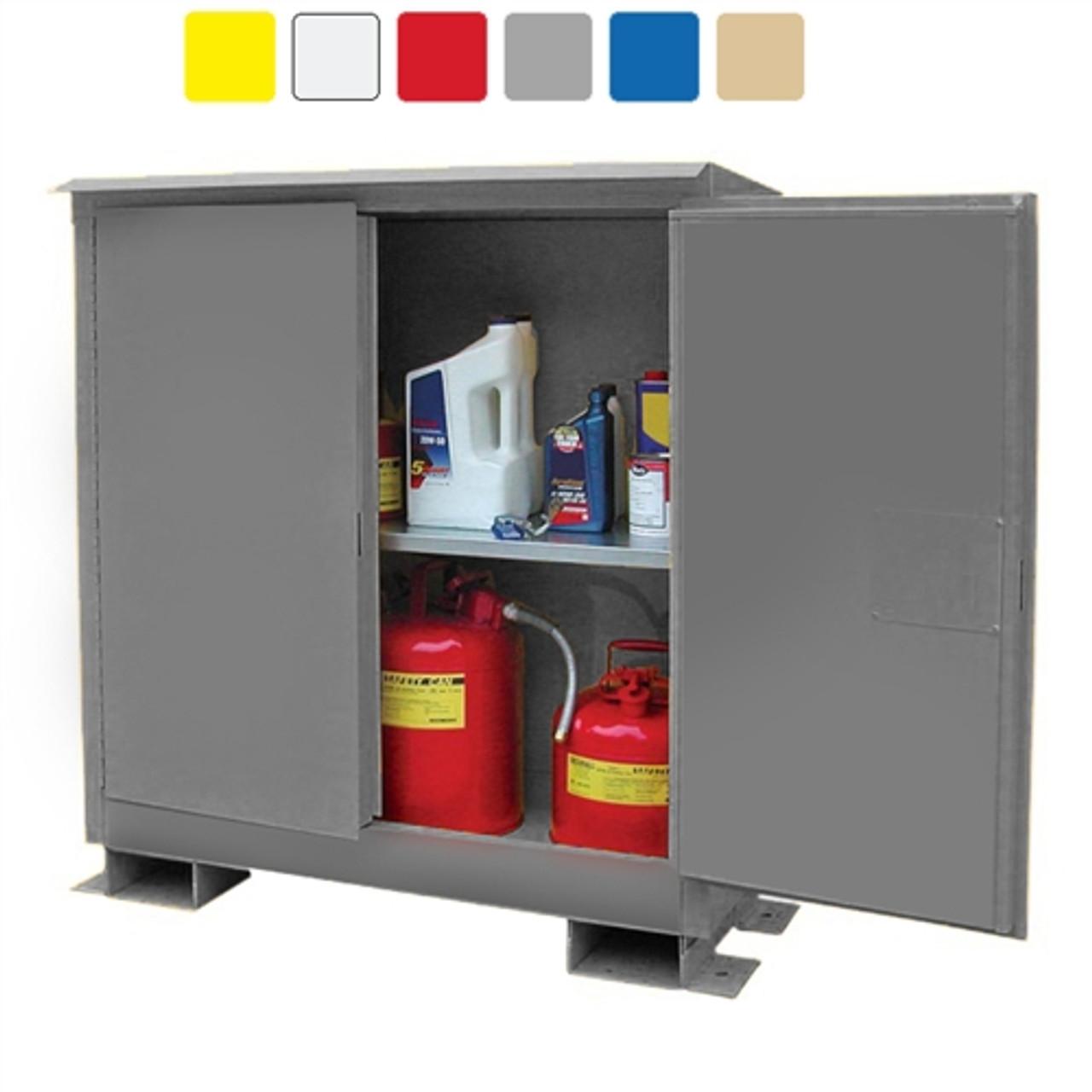 weatherproof outdoor cabinet 45 gal self closing 2 door. Black Bedroom Furniture Sets. Home Design Ideas