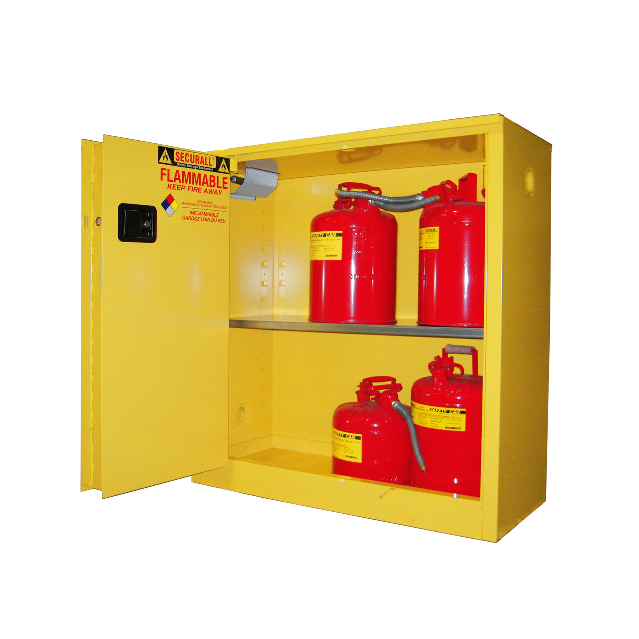 Securall A230 Flammable Storage Cabinet 30 Gal Self Closing
