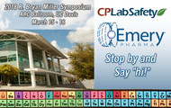 Emery Pharma and CP Lab Safety to Exhibit 2018 R. Bryan Miller Symposium