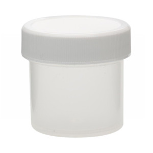 30mL PP Jar, Polyethylene Foam Lined Cap, case/72