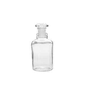 100mL Bottle, Dropping, Clear Glass, Ground Stopper, case/6