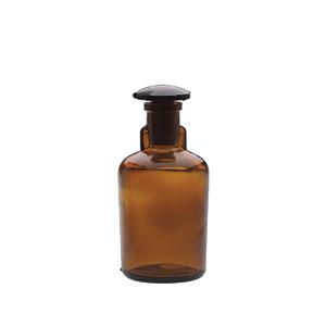 100mL Bottle, Dropping, Glass Amber, Ground Stopper, case/6