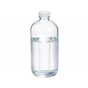 16oz Glass Boston Round Bottle, PP Cap, Poly Vinyl Lined Caps, case/12