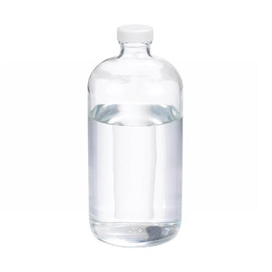32oz Glass Boston Round Bottle, PP Cap, PTFE Lined Caps, case/12