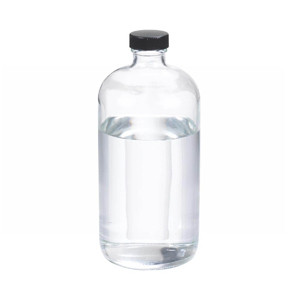 32oz Glass Boston Round Bottle, Polyethylene Cone Lined Caps, case/12