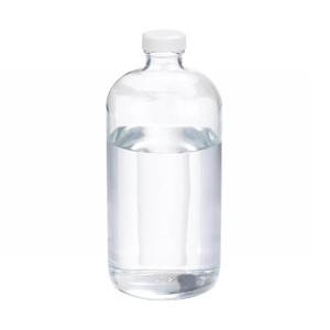 32oz Clear Glass Boston Round Bottle, Poly Vinyl Liner Bulk, case/12