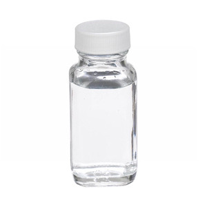2oz French Square Glass Bottle, Clear, PTFE Liner, case/48