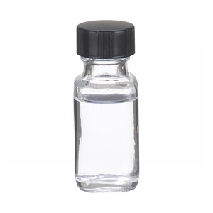 0.5oz Bottle, French Square, Type III Clear, Phenolic Black/Rub Liner, case/48
