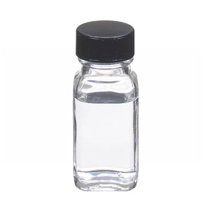 1oz Bottle, French Square, Type III Clear, Polyethylene Cone Liner, case/48