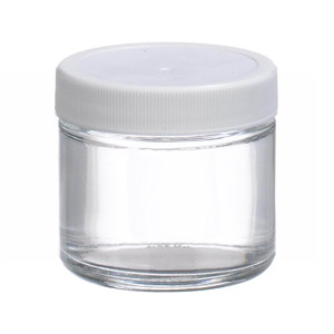 2oz Glass Jar, Straight Side Clear, Poly Vinyl Liner, case/24