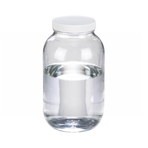65oz Clear Glass Wide Mouth Packer Bottle, PTFE Lined PP Caps, case/6