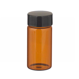 20mL Amber Vials, 24-400, Lab File, PTFE, case/72