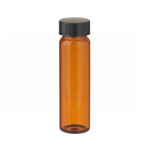 40mL Amber Vials In Lab File, Rubber Lined Cap, case/72