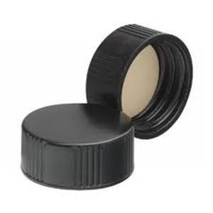 Wheaton 22-400 Black Phenolic Caps, 14B Rubber Liner, case/144