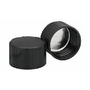 38-439 Black Phenolic Caps, Aluminum Faced Pulp Liner, case/200