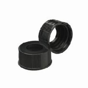 Wheaton W240506 8-425 Black Phenolic Caps, Open, No Liner, Case/200