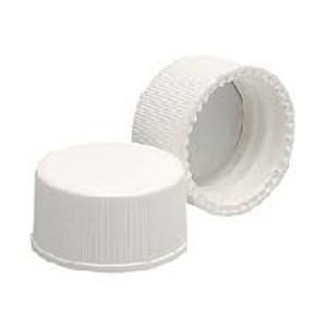 15-425 PP Caps, White, PTFE /Silicone, Liner .060, case/250