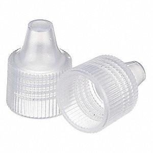 15-415 Caps for Dropper Bottles, Polypropylene, case/1000