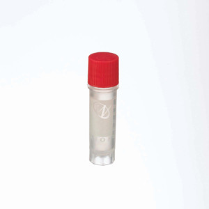 2mL Ext FS CryoElite Vials, RED Cap, Label, sterile, case/500