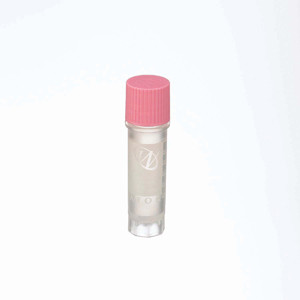 2mL Ext FS CryoElite Vials, Pink Cap, Label, sterile, case/500
