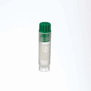 2mL Internal Thread FS CryoElite Vials, Green Cap, Label, sterile, case/500