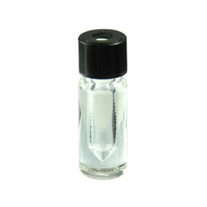 0.3mL Borosilicate Glass V-Vials, Clear, 8-245 Hole Cap, case/12