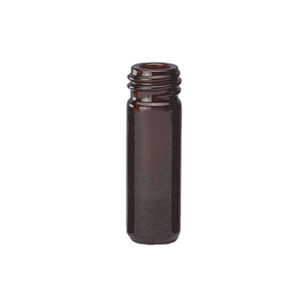 1mL Amber Borosilicate Glass V-Vials, 13-425, case/12