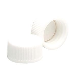 13-425 Polypropylene Caps, White, PTFE Liner, case/144