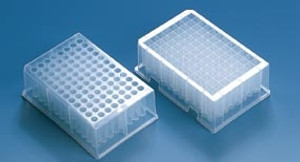 96 Deep-Well Plate, PS, Stackable, 1.1mL, Non Sterile, case/32