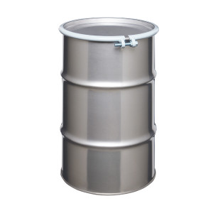 Stainless Steel Drum, 30 gallon, Open Head