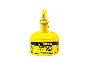 Justrite 10011 Type I Steel Safety Can, 1 Pint, Yellow