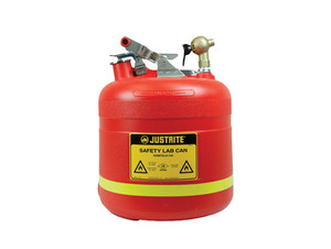 Justrite 14540 Safety Dispensing Can with Top Faucet, 5 gallons, Red